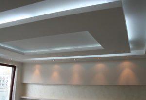 Podwieszany sufit z oświetleniem