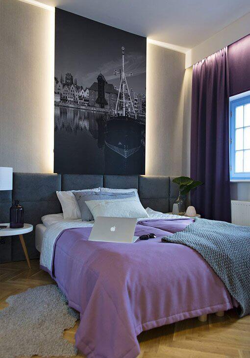 Sypialnia z motywem gdańskim