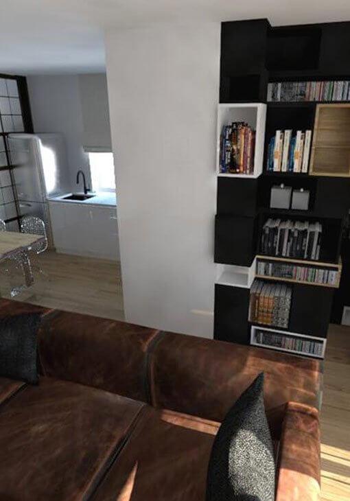 Skórzana sofa w salonie