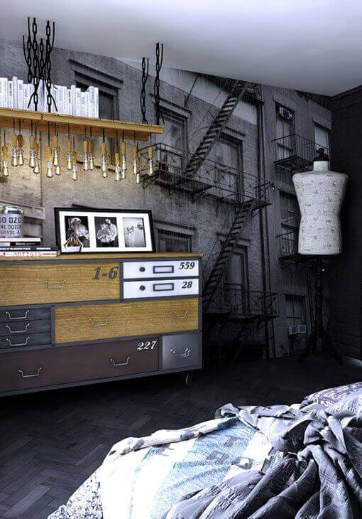 Tapeta 3D w sypialni